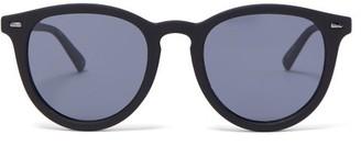 Le Specs Fire Starter Round Rubberised Sunglasses - Black Grey