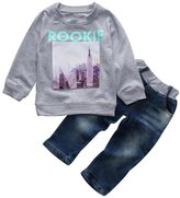 Kids Outfits, Doinshop 1Set Baby Boy Sweatshirt+Denim Pants Jeans