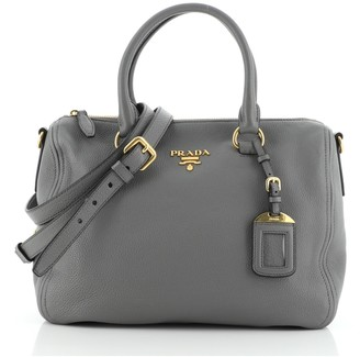 Prada Convertible Zip Satchel Vitello Daino Medium