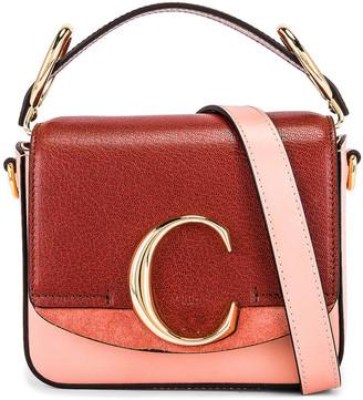 Chloé Mini C Tri Color Box Bag in Fallow Pink | FWRD