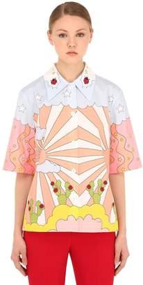 VIVETTA Printed Cotton Poplin Shirt
