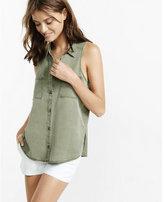 Express silky soft twll sleeveless shirt