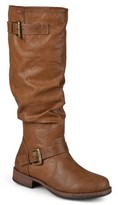 Brinley Co. Extra Wide-Calf Buckle Knee-High Riding Boot (Women's)