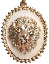 WANOOS Golden Lion King Necklace Wear Pendant - White
