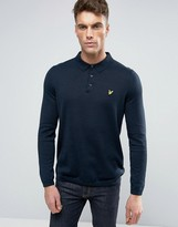 Lyle & Scott Knit Polo Regular Fit Eagle Logo in Navy