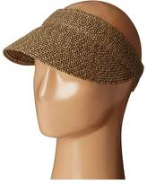 Scala Paper Braid Visor Casual Visor