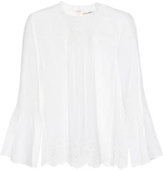 Ulla Johnson Halsey cotton and linen top