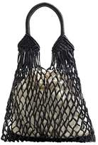 MANGO Mesh pattern shopper bag