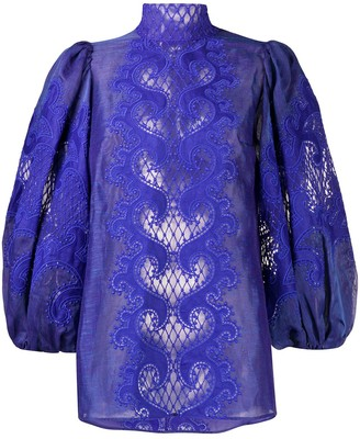 Zimmermann Brightside embroidered blouse