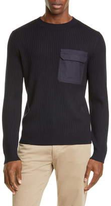 A.P.C. Bluestack Crewneck Pocket Merino Wool Sweater