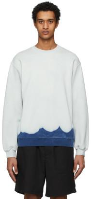 MSGM Off-White Bleached Effect Sweatshirt