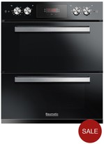Baumatic BODM754B Built Under Double Oven - Black