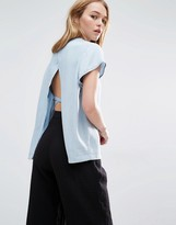 Weekday Pocket Front Top With Open Tie Back Detail
