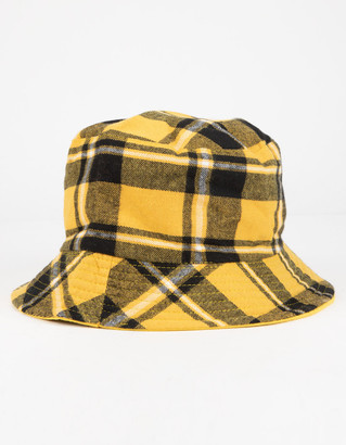 Plaid Print Reversible Womens Bucket Hat