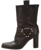 Michael Kors Leather Harness Ankle Boots