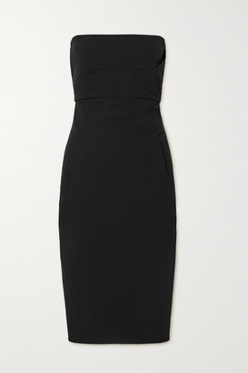 Rick Owens Strapless Cotton-blend Crepe Dress - Black