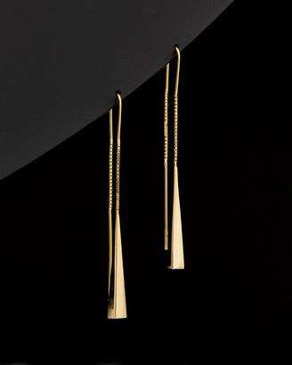 Italian Gold 14K Elongated Triangle Threader Earrings