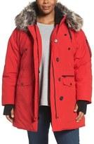 Lucky Brand Faux Fur Trim Parka (Plus Size)