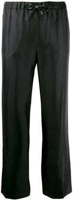 Valentino Straight-Leg Logo Ribbon Trousers