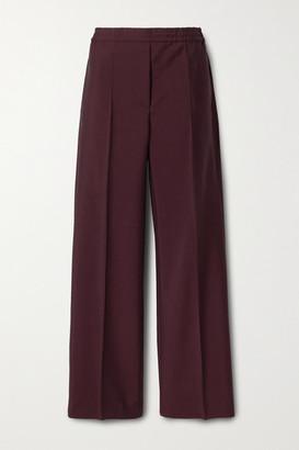 Acne Studios Wool And Mohair-blend Straight-leg Pants - Burgundy
