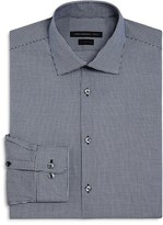 John Varvatos Micro Check Slim Fit Dress Shirt