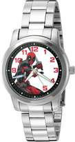 Marvel Men's 'Deadpool' Quartz Metal and Stainless Steel Automatic Watch, Color:-Toned (Model: W002860)