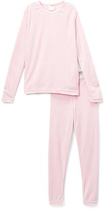 Rocky Girls' Thermal Bottoms LT - Light Pink Thermal Underwear Set - Girls