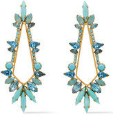 Thumbnail for your product : Elizabeth Cole 24-karat Gold-plated Crystal Earrings
