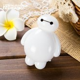 Injuicy Lighting Modern Baymax Led Night Light Cartoon Children Bedrooms Bedside Sensor Night Lamp Art Deco with Switch Plug US Gift