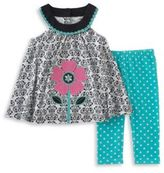 Kids Headquarters Baby Girls Two-Piece Top and Capri Leggings Set