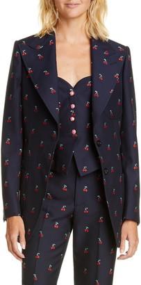 Gucci GG Cherry Cotton & Wool Fil Coupe Blazer
