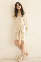 China collar dress beige