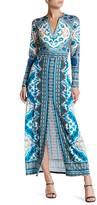 Hale Bob Front Slit Maxi Dress