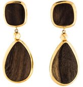 Oscar de la Renta Wood Earrings
