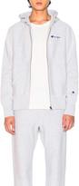 Champion Reverse Weave Hooded Sweatshirt in Heather Grey   FWRD