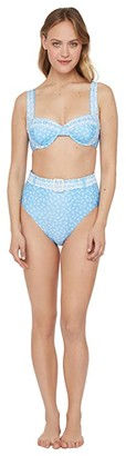 Polo Ralph Lauren Daisy Floral Underwire Bra (Blue) Women's Swimwear