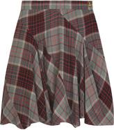 Vivienne Westwood Tartan cotton-blend asymmetric skirt