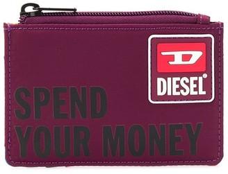 Diesel Slogan Print Cardholder