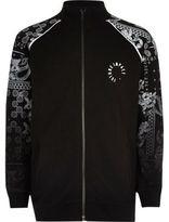 River Island Boys black paisley fade sleeve track jacket