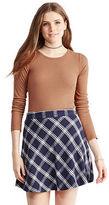 Aeropostale Womens Plaid A-Line Skirt Blue