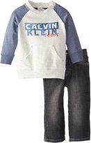 Calvin Klein Baby Boys Blue French Terry Top with Jeans