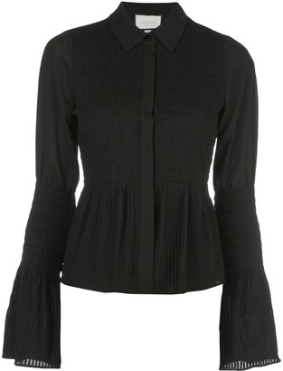 Alexis Chantal shirred bell-sleeved shirt