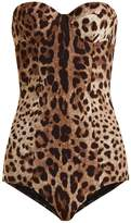Dolce & Gabbana Leopard-print balconette swimsuit