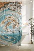 Urban Outfitters Agate Stone Marble Shower Curtain
