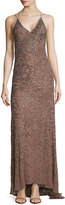 Jason Wu Embellished Halter-Neck Gown, Tobacco