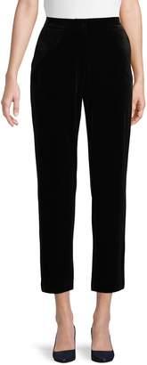 Halston H Cropped Velvet Pants