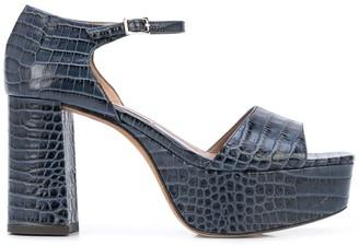 Tabitha Simmons Pattonna 85mm crocodile-effect sandals