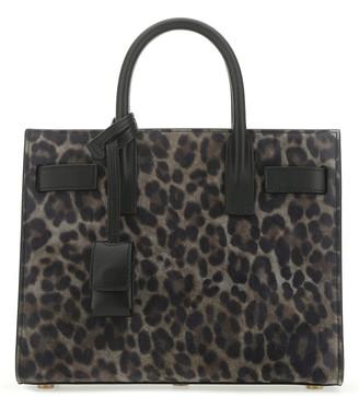 Saint Laurent Sac De Jour Leopard Print Tote Bag