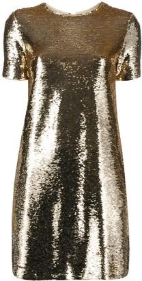 Emporio Armani sequinned T-shirt mini dress
