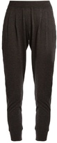 Brunello Cucinelli Monili-embellished cashmere-blend track pants